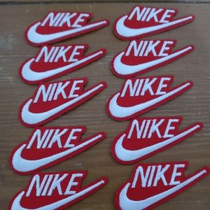 NIKE patch lot of 10 new Red & White